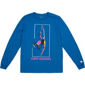 Topo Designs Climber Longsleeve T-Shirt Heren, blue